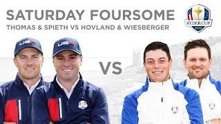 Jordan Spieth \u0026 Justin Thomas defeat Viktor Hovland \u0026 Bernd Wiesberger Foursomes Ryder Cup 2020