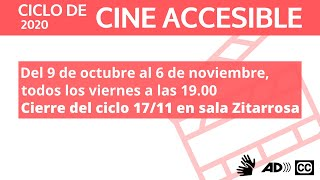 Carolina Sosa, directora de Okurelo cine te invita al Ciclo de Cine Accesible 2020.