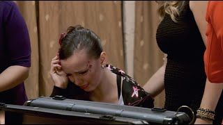 dance moms   payton cries about her hair style