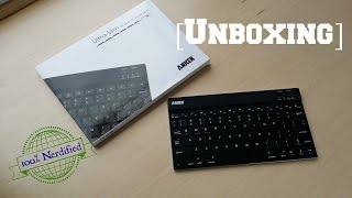 anker ultra slim bluetooth keyboard unboxing