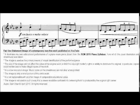RCM Piano 2015 Grade 5 Study No.5 George Allegro Agitato Sheet Music
