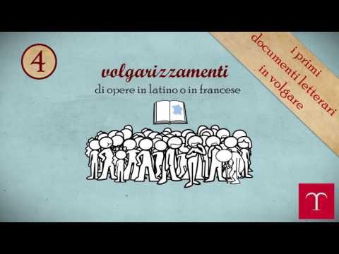 I primi documenti letterari in lingua volgare