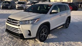 2019 Toyota Highlander LE - review of features and full walk around