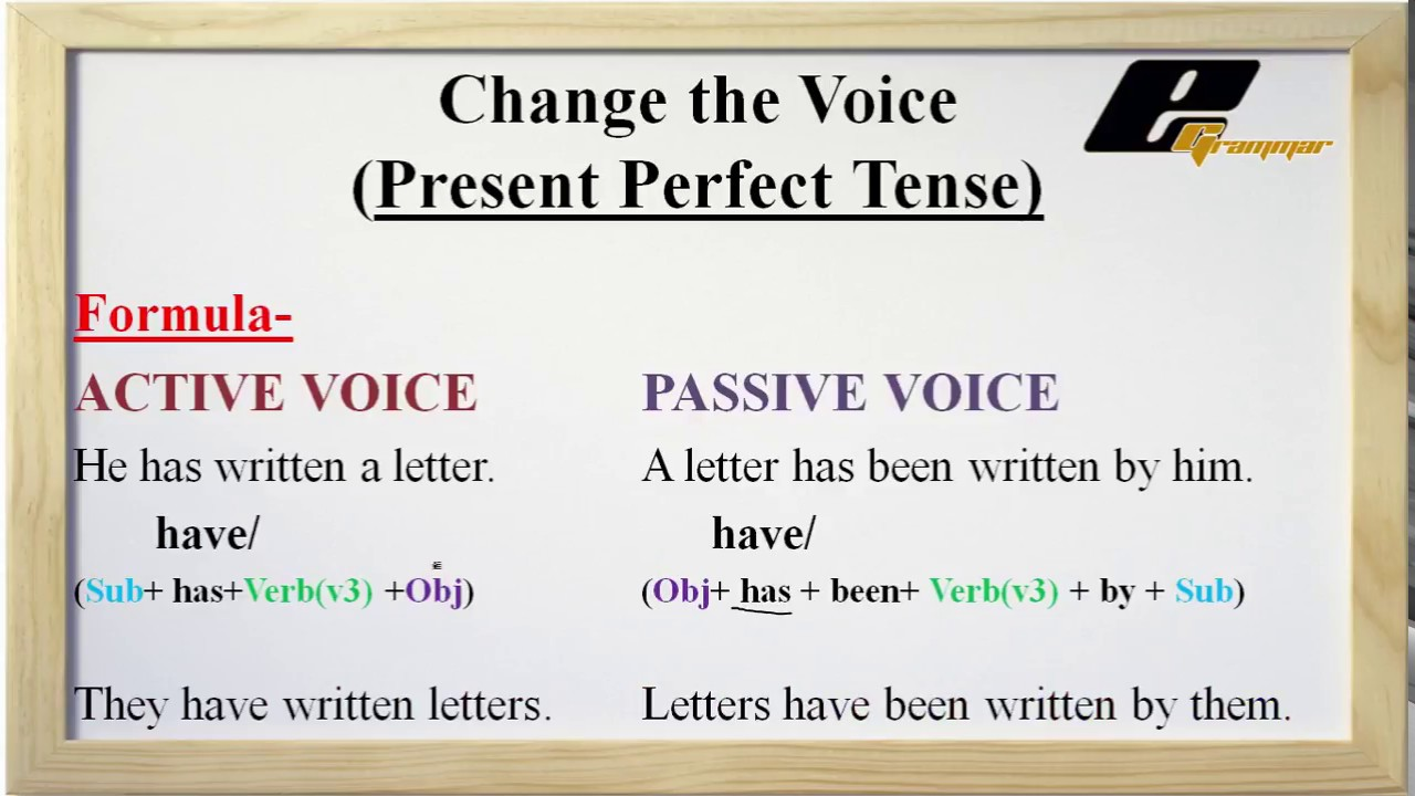 Change the Voice Present Perfect In English