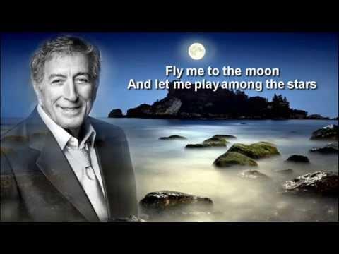 Tony Bennett +  Fly Me To The Moon + Lyrics/HQ