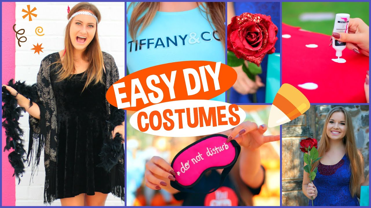 5 diy last minute halloween costumes youtube - 5 Girl Halloween Costumes
