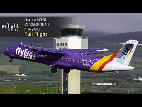 Flybe/Stobart Air Full Flight: London Southend to Manchester - ATR72-600