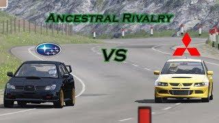 Subaru Impreza WRX STi vs Mitsubishi Lancer EVO VIII MR / Assetto Corsa