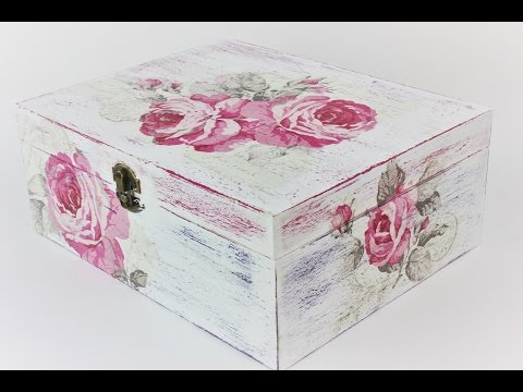 how-to-make-a-decoupage-box---painted-box---decoupage-wooden-box---decoupage-for-beginners