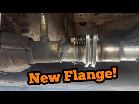 replacing exhaust connection flange 97 ford ranger