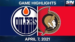 NHL Game Highlights | Oilers vs. Senators - Apr. 7, 2021