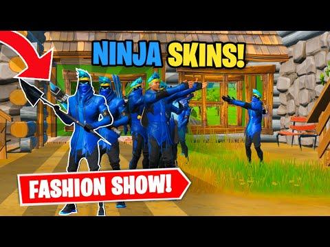 Fortnite | Fashion Show! Skin Competition! *NINJA SKINS ONLY* & EMOTES WINS!