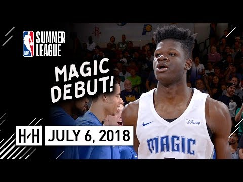 Mohamed Bamba Full Magic Debut Highlights vs Nets (2018.07.06) Summer League - 11 Pts, 7 Reb