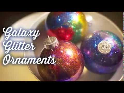 How to glitter galaxy ornaments tutorial youtube solutioingenieria Gallery