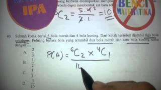 Peluang-Pembahasan soal UN Matematika IPA No.40