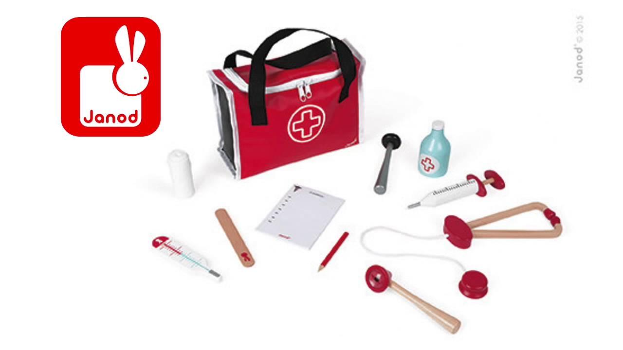 Mallette docteur Janod - jouet enfant - lapouleapois.fr - YouTube ac0032c3daaf