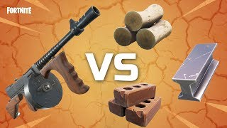 NEW* Drum Gun VS All Resources - Fortnite Drum Gun Review
