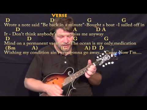 Knee Deep (Zac Brown) Mandolin Cover Lesson in D with Chords/Lyrics
