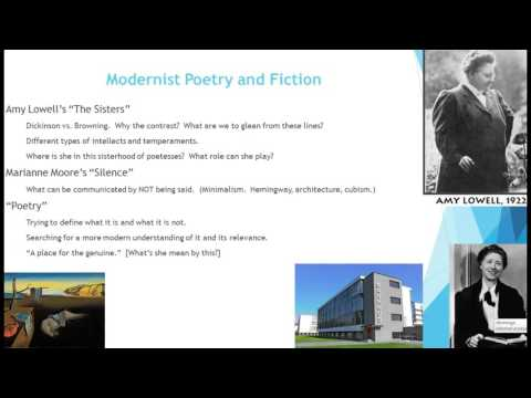 Modernist Poetry and Fiction, Part I