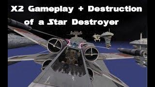 Battlefront 3 Legacy - [GCW] X2 bringing down a Star Destroyer [Gameplay]