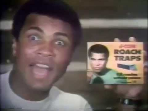 Muhammad Ali in Roach Traps Commercial