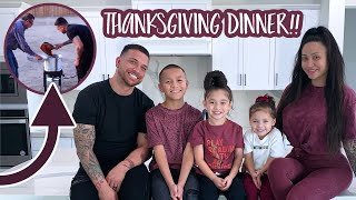 COOKING OUR FIRST EVER THANKSGIVING MEAL!!
