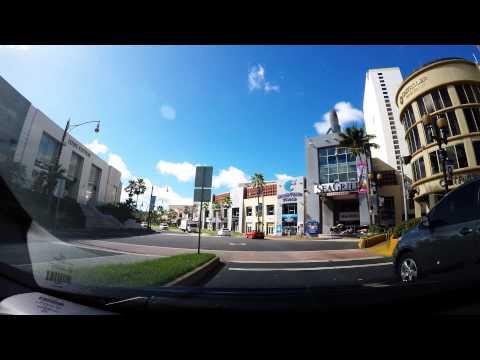 Guam driving from nikko gum to proa restaurant( 괌 여행 gopro hero 4 black 4k)