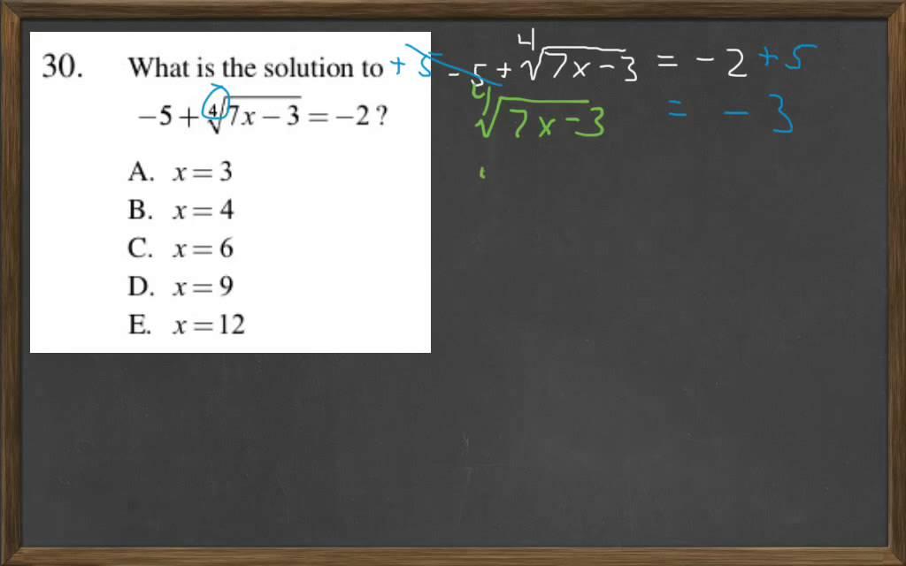 HiSET Math Free Practice Test 2 #30 - YouTube