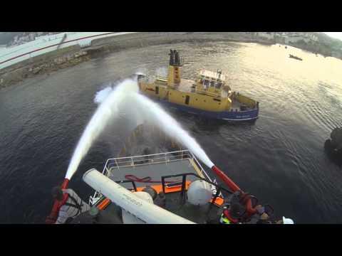 "Sinking Tug Boat ""Sun swale"". Gibraltar Reef"