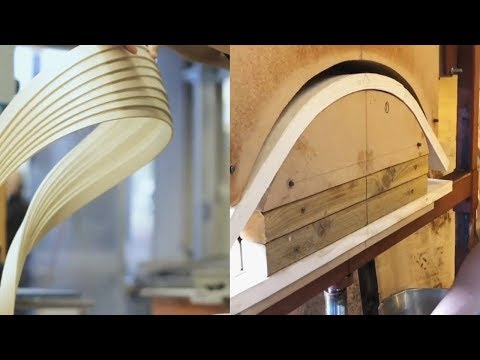 30 AMAZING Woodbending Techniques! Woodworking Steambending Skills