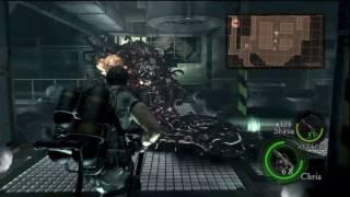 Resident Evil 5 HD Chapter 5-2 (End) Boss Battle Uroboros Mkono P39