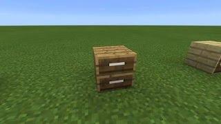 Cara membuat cuboard dan bisa nyimpan item | MINECRAFT PE