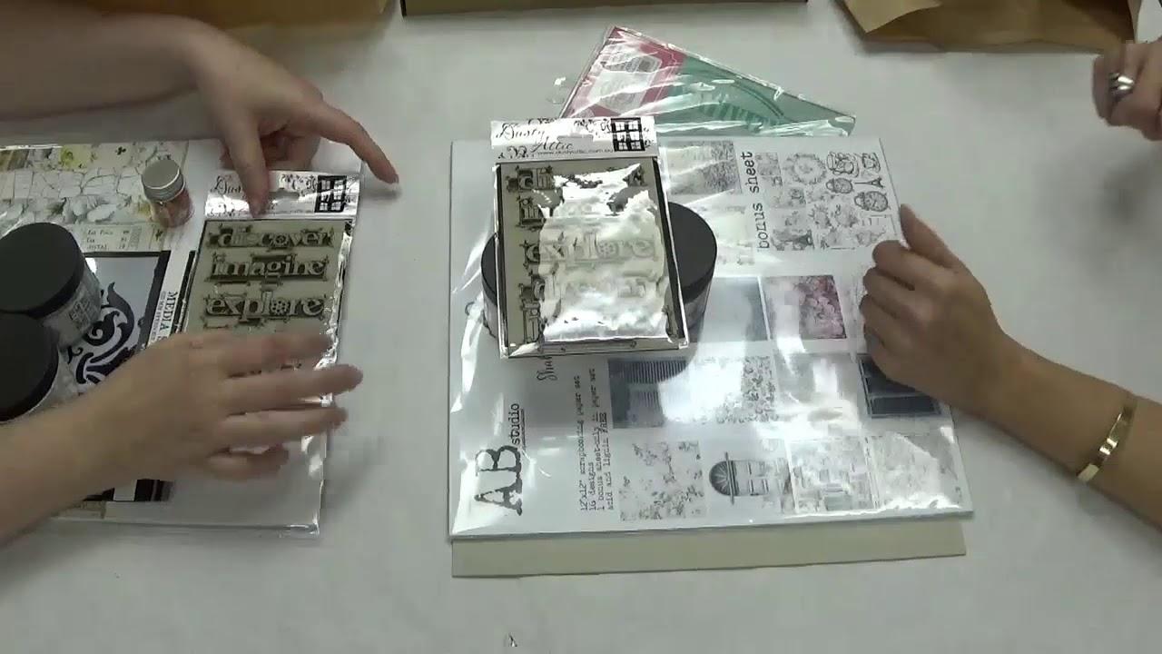 Boutique 2 Hojas BoBunny 12x12 papel scrapbooking velada Colección