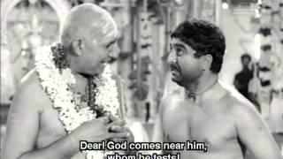 Restoring Faith in God - Thunaivan Tamil Movie Scene - A.V.M. Rajan