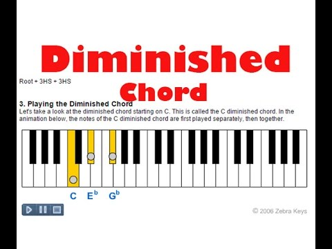 How To Play Diminished Chords On Piano Youtube