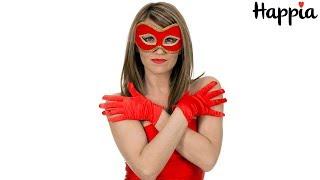 Черные и красные шелковые перчатки / Обзор