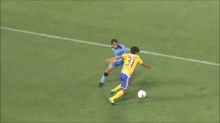 【公式】Pick upプレー動画:試合終了間際に茂木 駿佑(仙台)がカットインから右足を振り抜くも、シュートはクロスバーに阻まれる!