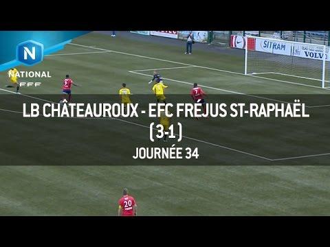 J34 : LB Châteauroux – EFC Fréjus St-Raphaël (3-1), le résumé