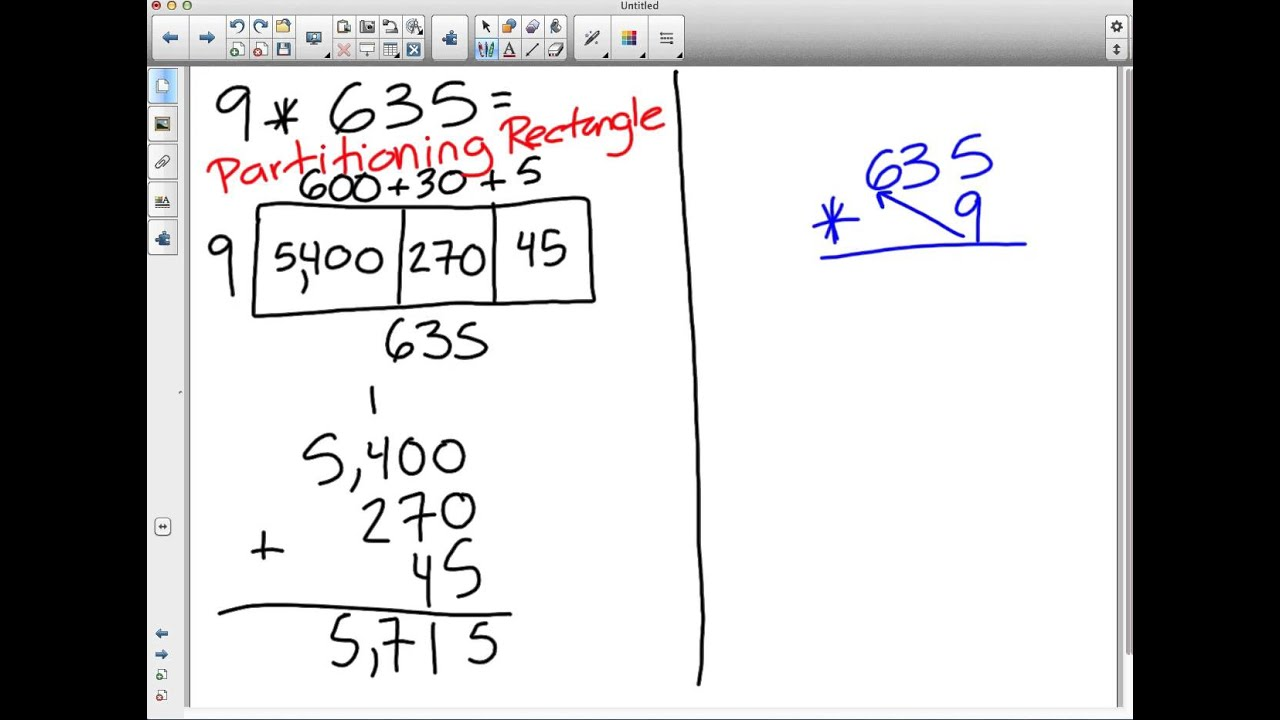 Partitioning Rectangles Amp Partial Products Multiplication