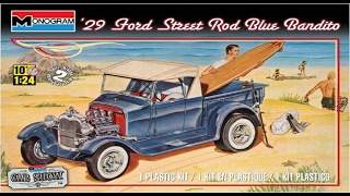 how to build the blue bandito 1929 ford street rod 1 24 scale monogram model kit 85 4020 review