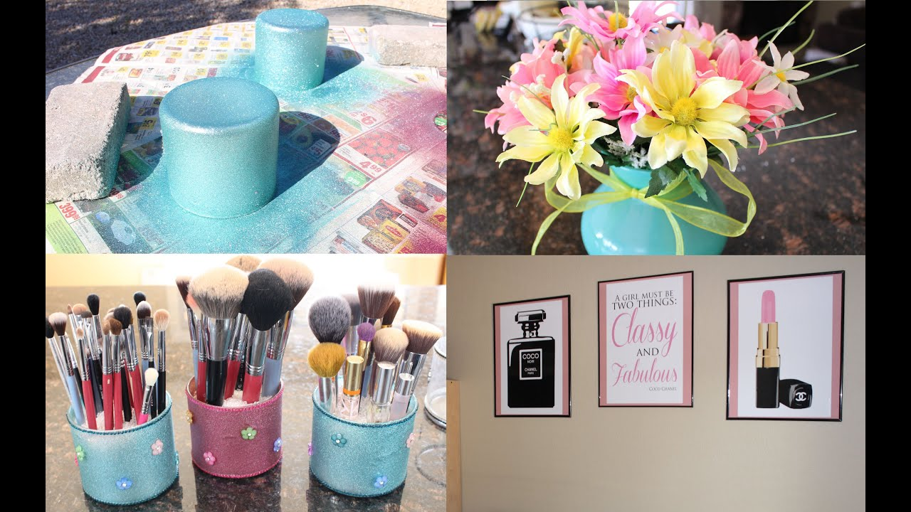 Diy makeup room decor giveaway youtube for Diy room decorations youtube
