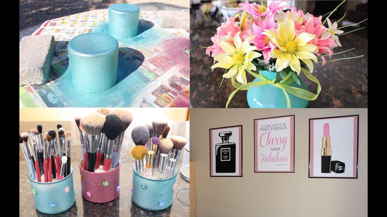 DIY Makeup Room Decor + GIVEAWAY! - YouTube on Make Up Room Ideas  id=37165