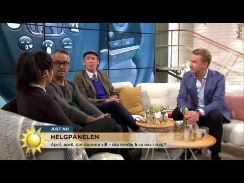 """Hasse Brontén: """"Brorsan har tagit skada av aprilskämtet"""" - Nyhetsmorgon (TV4)"""