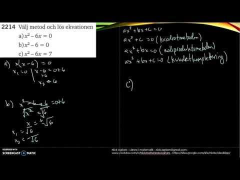 Matematik 5000 Ma 2c   Kapitel 2   Andragradsekvationer   Kvadratkomplettering   2214