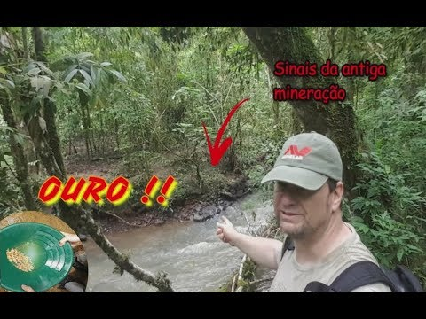 Foi CAÇANDO TESOUROS que achamos O RIO DO OURO