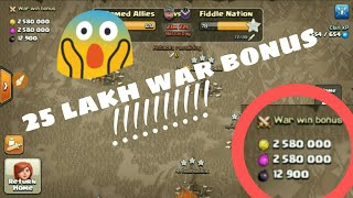 What !!! I got 25 lakh war bonus ?? How