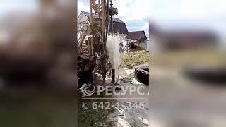 Бурение скважины в поселке Пудость Гатчинского района Ленинградской области