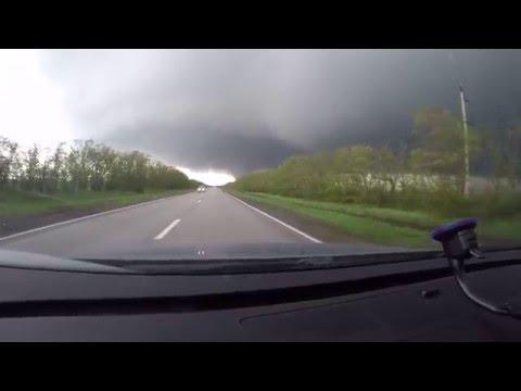 Торнадо, Россия, Морозовск 14 мая 2016 года GoPro Hero Black 4