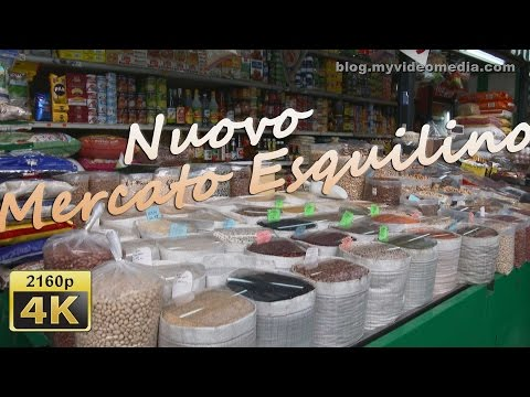 from Nuovo Mercato Esquilino to Colosseum, Rome - Italy 4K Travel Channel