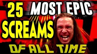 25 MOST EPIC SCREAMS OF ALL TIME   Ken Tamplin Vocal Coach Reaction